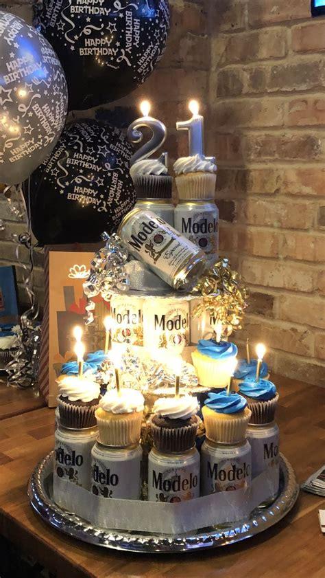 beer cupcake tower partygift ideas pinterest