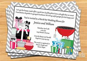 his and hers couple wedding shower invitation With his and hers wedding shower