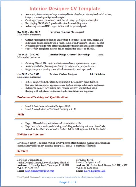 16434 designer resume templates 2 interior design resume template word brokeasshome