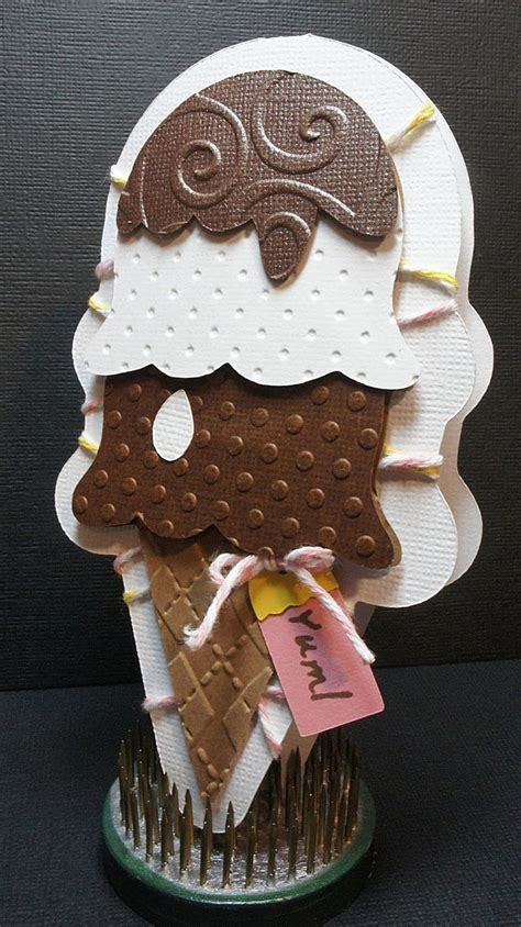 sweet treats ice cream cone shaped cards homemade