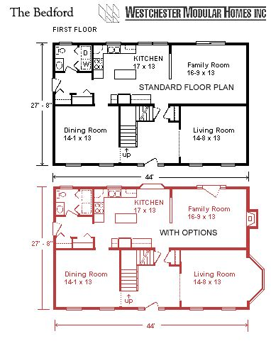 3 bedroom ranch house floor plans bedford by westchester modular homes two floorplan