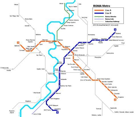 chambres d hotes florence rome carte du métro carte détaillée du métropolitain