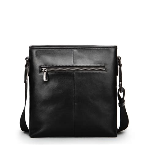 Leather Crossbody Bag by Rome Knights Leather Crossbody Bag Black