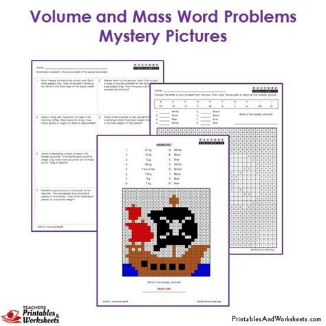 grade volume  mass word problems coloring