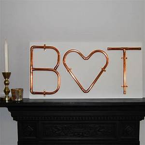 copper letters and symbols mounted wall art by copper With copper letters for wall