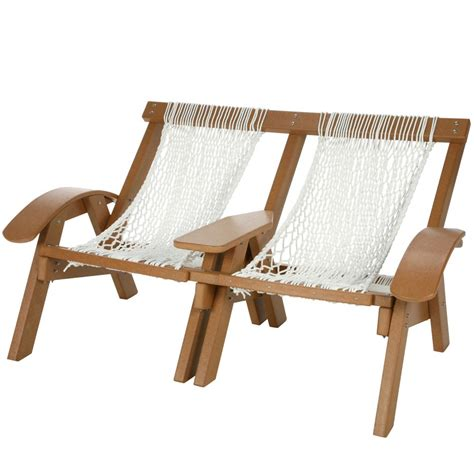 Cedar Durawood Curved Arm Double Rope Chair