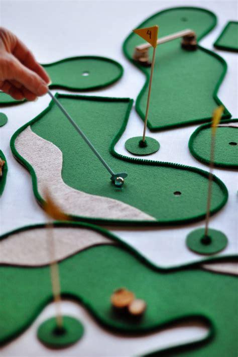 diy tabletop mini golf
