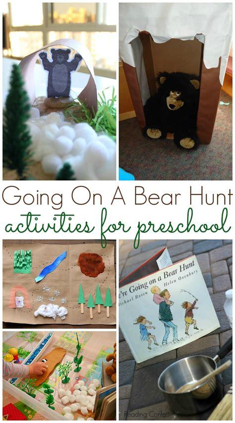 bear hunt activities  preschool pre  pages