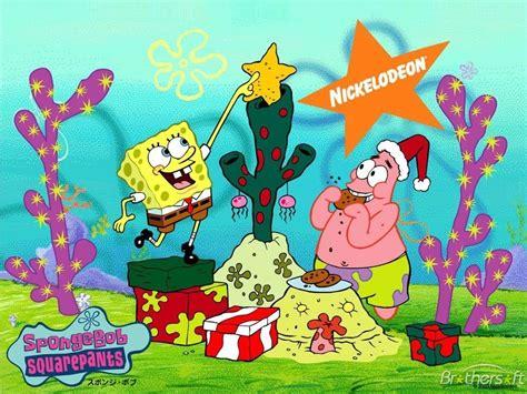 download free spongebob christmas wallpaper spongebob