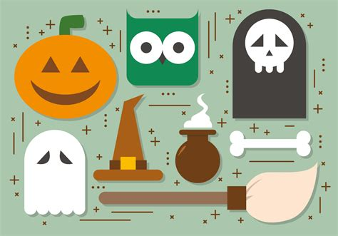 halloween elements vector collection