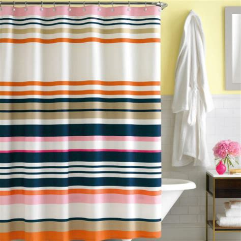 kate spade new york shop stripe fabric shower