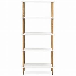 Etagere Bois Design : etag re biblioth que design style scandinave erika en bois ~ Teatrodelosmanantiales.com Idées de Décoration