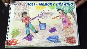 Memory Drawing For Kids Holi Festival Memory Drawing ...