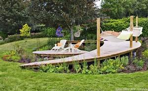 creer une terrasse en bois sur un terrain en pente With creer une terrasse en bois