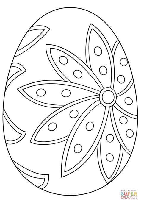 fancy easter egg coloring page  printable coloring pages