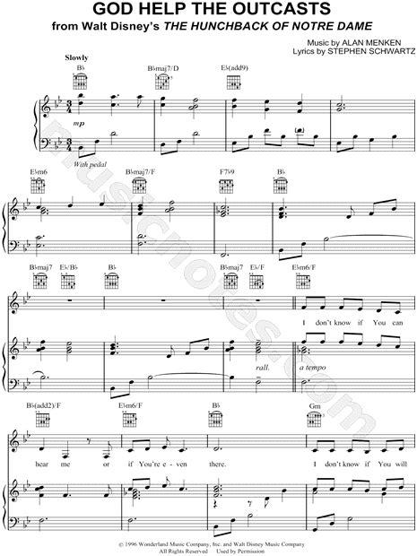 God Help the Outcasts Sheet Music