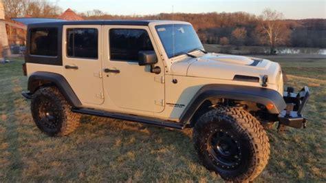 Sahara Tan Aev Jeep Wrangler Jk Lifted 35 Quot Tires