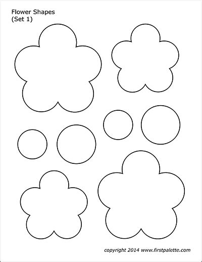 flower shapes  printable templates coloring pages