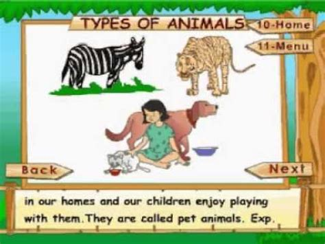 Learn Science Class 1 Animal Life Types of Animals