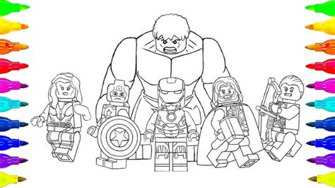 lego avengers infinity war coloring page for kids and