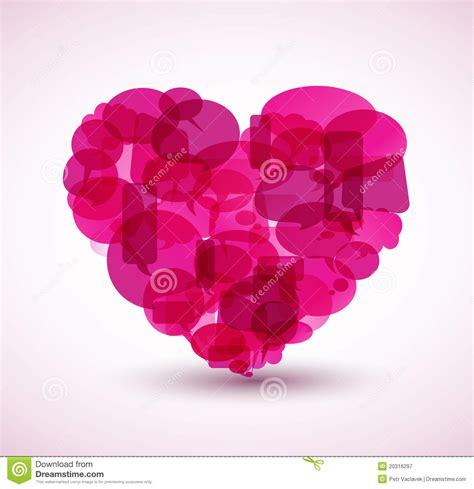 heart   pink cartoon bubbles royalty  stock
