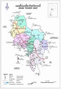 Krabi Thailand Tourist Map - Krabi Thailand • mappery