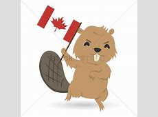 Beaver holding canada flag Vector Image 1623060