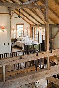 quotbarnquot style house wood beam ceilings interior details With barn beams wanted