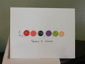 Thank You Cards, Handmade Cards, Button- Thanks A Million ...