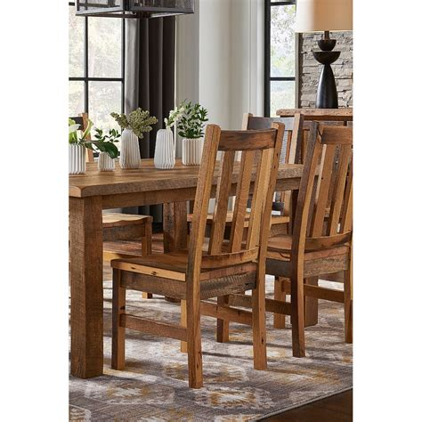 rustic reclaimed wood dining room chair barnwood rc