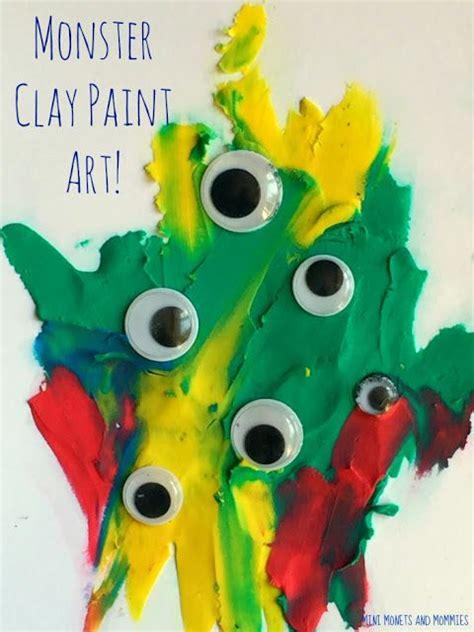 halloween finger painting  clay kids art activity