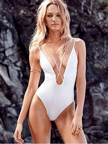 Piece Swimsuit Candice Swanepoel Secret Victoria Plunge