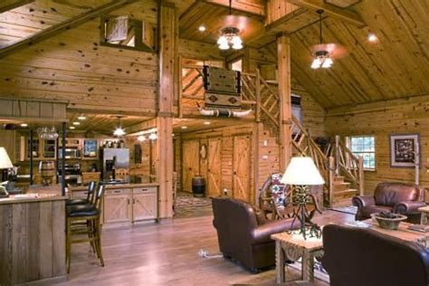 barn wood accent walls open floor plan  floor plans   design pole barn homes