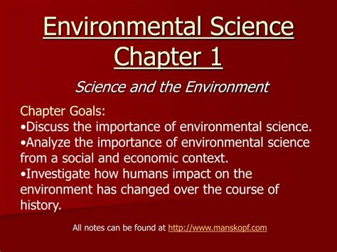 Environmental Science Chapter 1 Powerpoint
