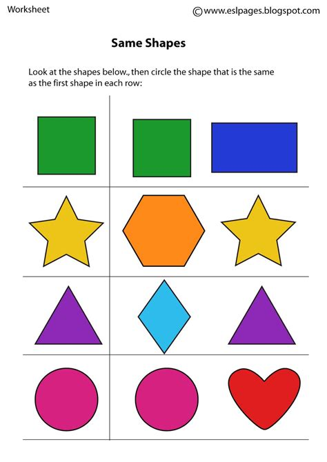 Same And Different Preschool Worksheets Worksheets For All  Download And Share Worksheets