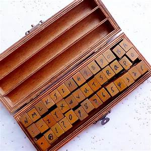 alphabet rubber stamp set with antique wooden box upper With letter rubber stamp set