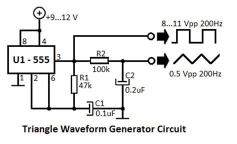 triangle waveform generator circuit