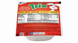Trix™ 25% Less Sugar Bowlpak Cereal | General Mills ...