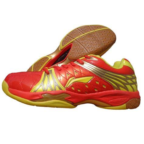 li ning titan limited champion red  yellow badminton