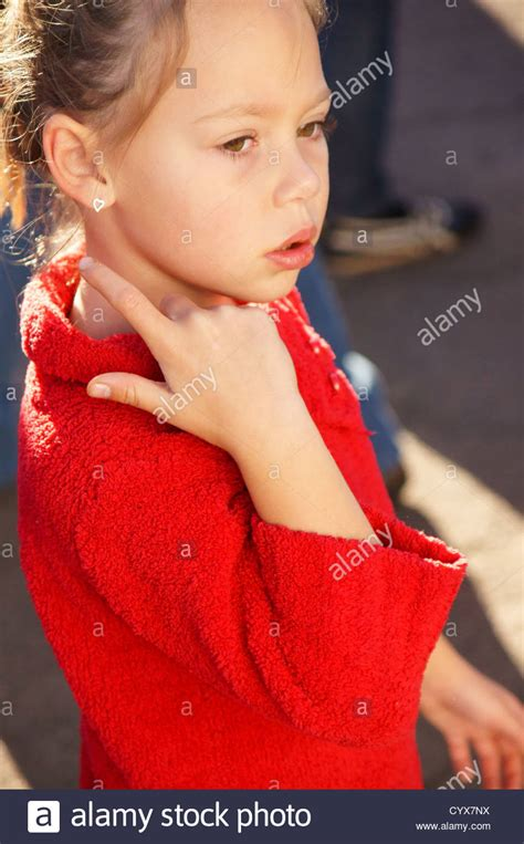 cute tween young blonde girl child kid side profile