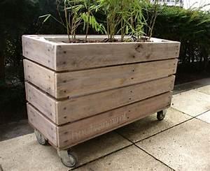 Bac En Bois Pour Jardin : bac pour plantes en bois de r cup 39 roulettes jardin pinterest roulette bac et r cup ~ Melissatoandfro.com Idées de Décoration