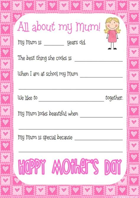 mothers day questionnaire top teacher innovative