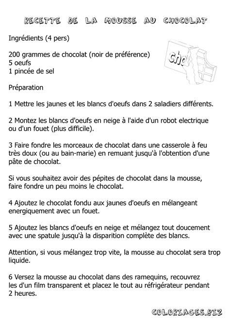 tablette recette de cuisine coloriages tablette de chocolat