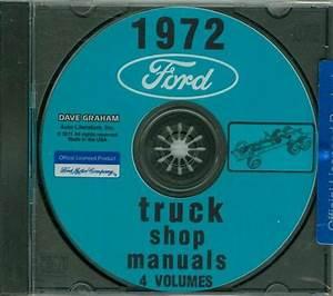 1972 Ford Truck Shop Repair Manual On Cd