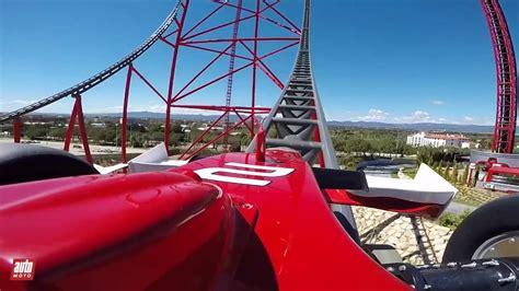 ferrari land pov  bord de laccelerateur vertical red