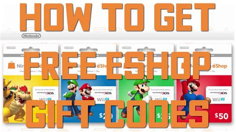 How To Get Free Eshop Codes Youtube
