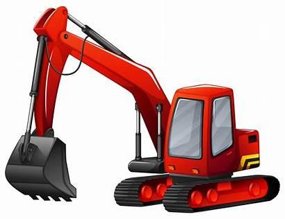 Excavator Vector Cartoon Clipart Graphics Construction Vectors