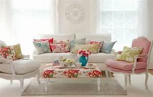 la decoration shabby chic mixer le passe et le present With tapis chambre bébé avec canapé shabby