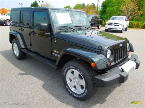 dark green jeep 2012 black forest green pearl jeep wrangler unlimited