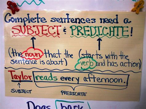 Write On, Fourth Grade! Subject & Predicate Freebie